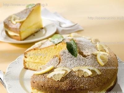 Torta al limone farcita. Ricetta con foto passo passo