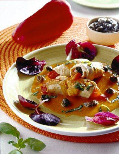 Rotolini di pollo ai peperoni