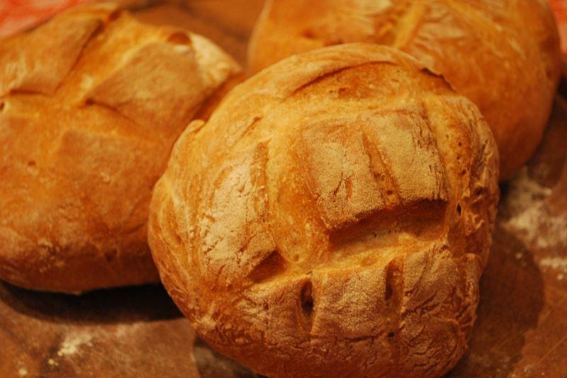 Pane di semola di grano duro fatto in casa