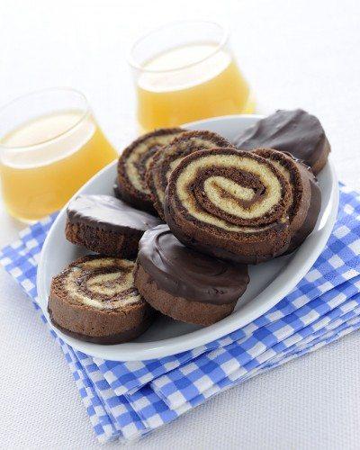 La ricetta facile delle Girelle al cioccolato