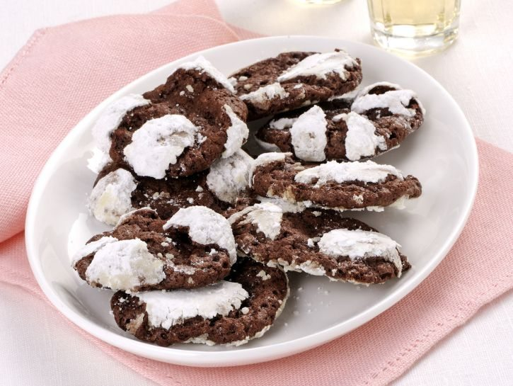 """Biscotti """"craquelé� al cioccolato"""