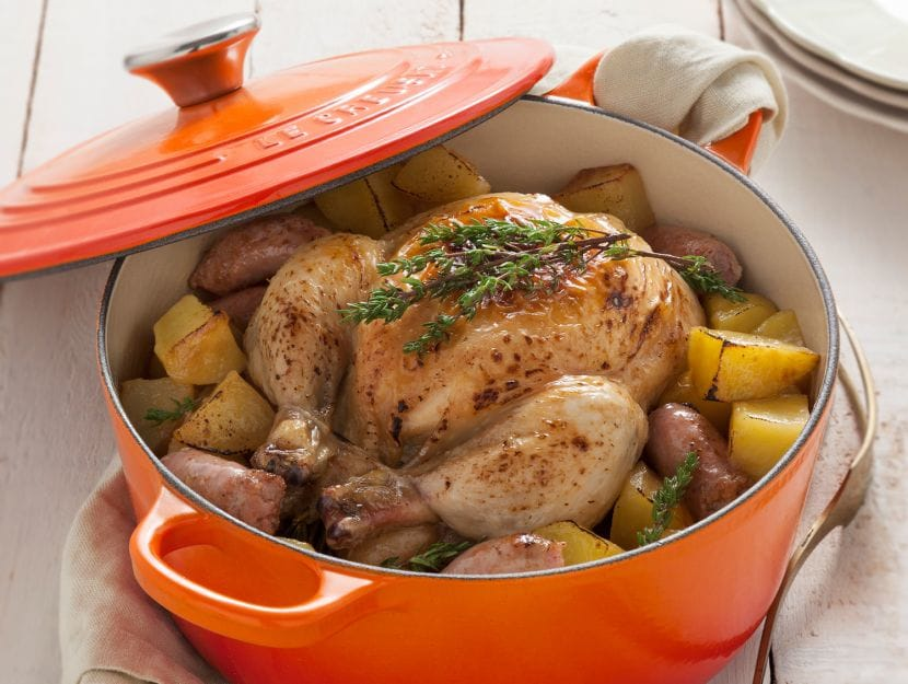 Teglia di patate e pollo arrosto