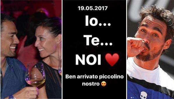 Flavia Pennetta e Fabio Fognini, benarrivato piccolo Federico