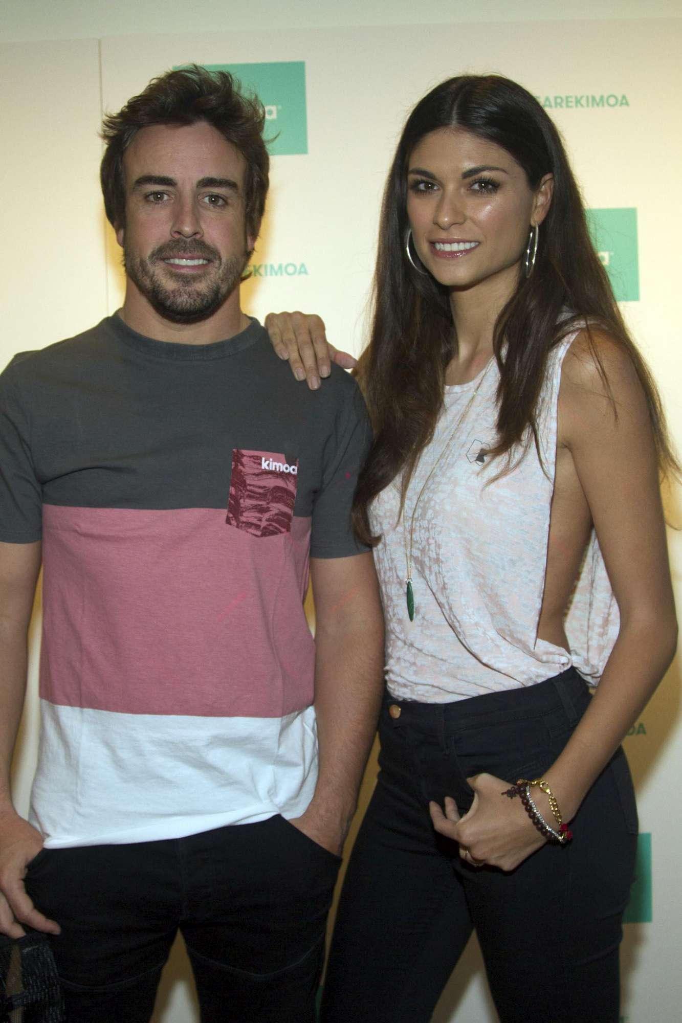 Alonso con la ex di Vale Rossi