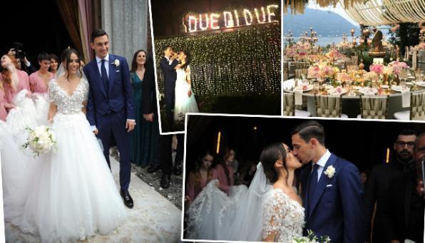 Matteo Darmian, guarda che nozze da favola sul lago di Como