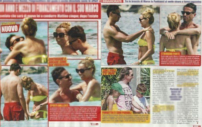 Federica Panicucci e Marco Bacini, vacanze da innamorati a Formentera