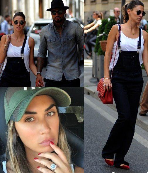 Melissa Satta, shopping col Boa in Montenapo