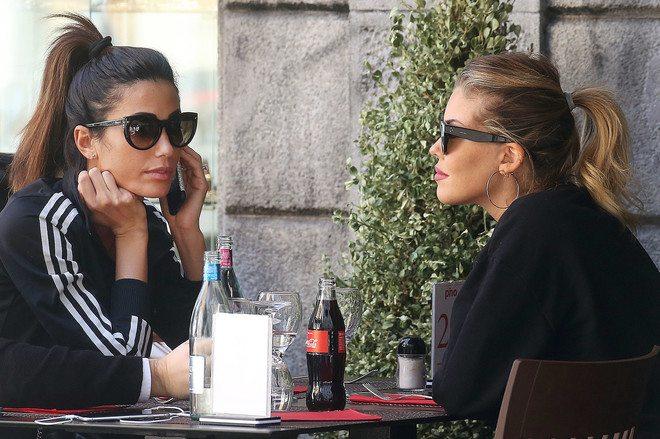 Costanza Caracciolo e Bobo Vieri, pomeriggio con Fede Nargi e figlia a Milano