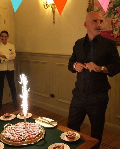 Eros Ramazzotti, compleanno al ristorante