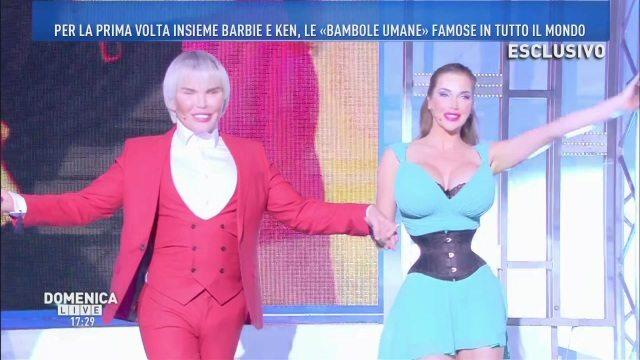 Domenica Live, Barbie e Ken finalmente insieme