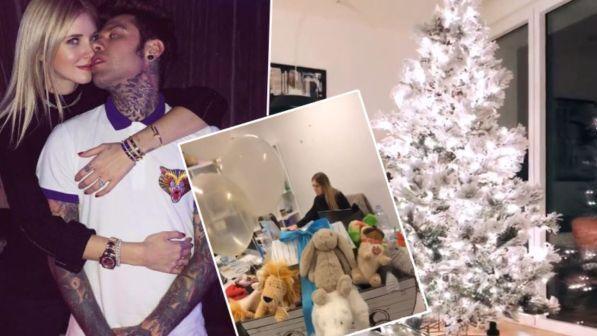 A casa di Fedez e Chiara Ferragni è già Natale