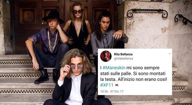 """X Factor, Rita Bellanza contro i Maneskin: """"Mi stanno sulle p**le"""". Account twitter eliminato"""