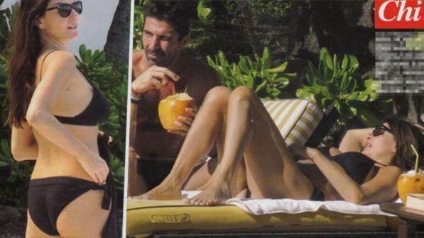 Gigi Buffon e Ilaria D'Amico, relax al sole