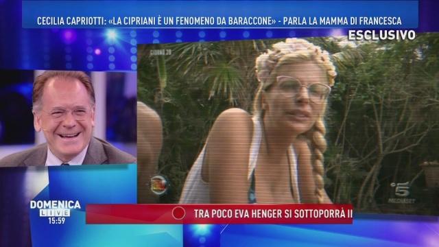 A Domenica Live tutte le gaffe di Francesca Cipriani