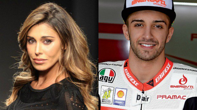 Belen Rodriguez innamorata, il post per la gara di Andrea Iannone: «Fiera di te, campione!