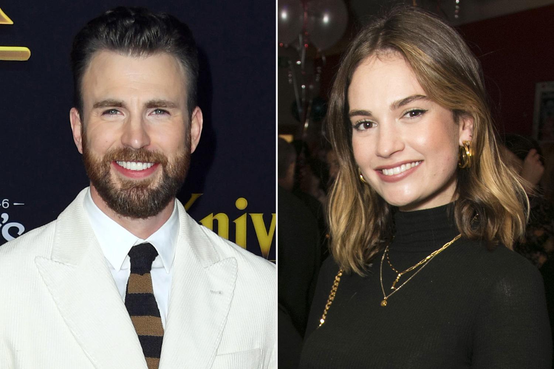 Chris Evans e Lily James: appuntamento segreto a Londra.. Stanno insieme?
