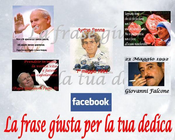 Papa Wojtyla - Madre Teresa di Calcutta - Ayrton Senna - Giovanni Falcone