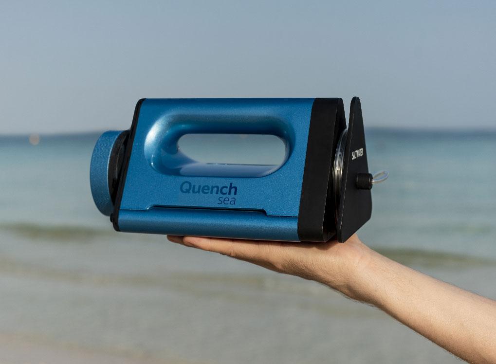 Quench sea, il dispositivo per trasformare l'acqua del mare in acqua potabile a 90 euro