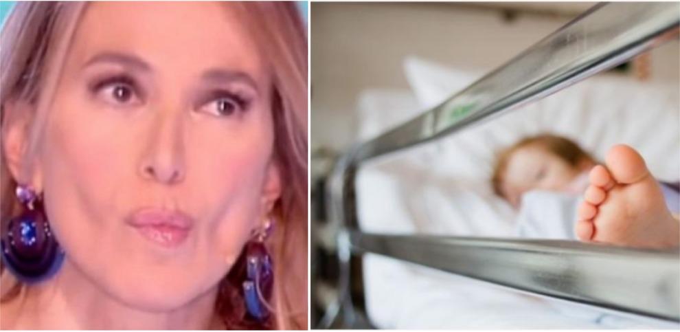 Barbara D'Urso in lacrime a Pomeriggio 5 per la bimba di 22 mesi picchiata, racconto choc della mamma