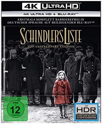 SCHINDLER'S LIST: Il capolavoro di Steven Spielberg per la prima volta in 4k Ultra HD
