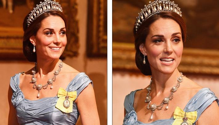 Kate Middleton indossa i gioielli di Lady Diana e la stampa la incorona  come nuova icona di stile nella famiglia reale eea873517f4