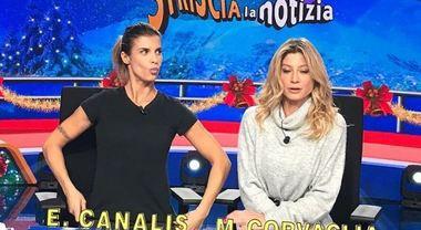Elisabetta Canalis e Maddalena Corvaglia di nuovo insieme a Striscia la notizia