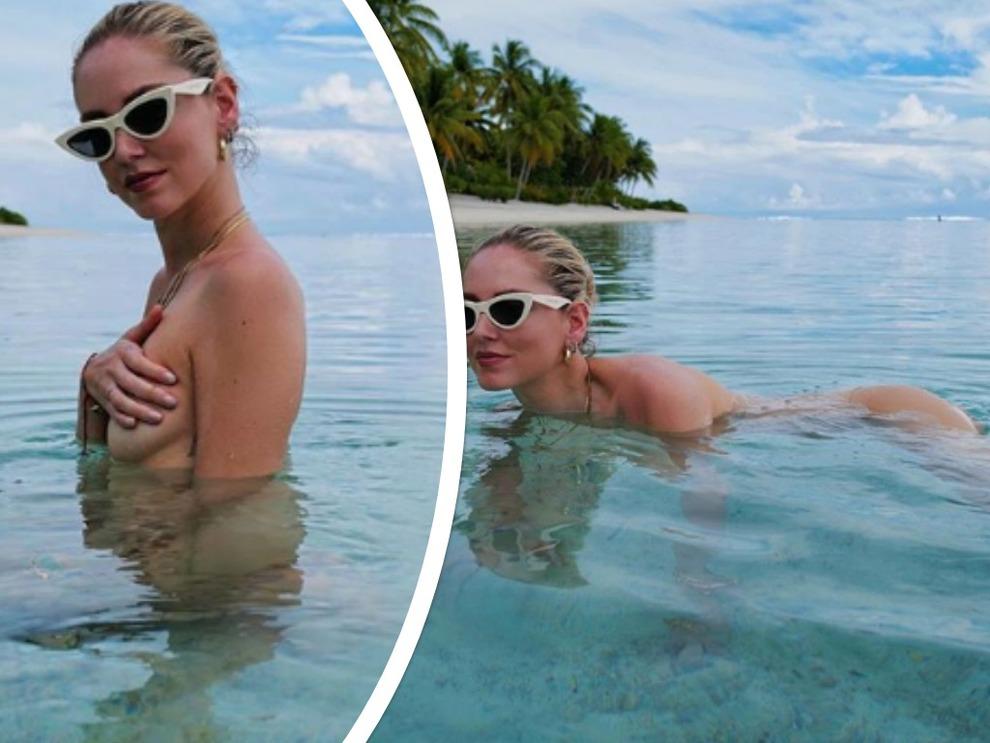Chiara Ferragni, bagno nuda in mare. Fan al vetriolo: «Non ti vergogni?». La sua risposta spiazza tutti
