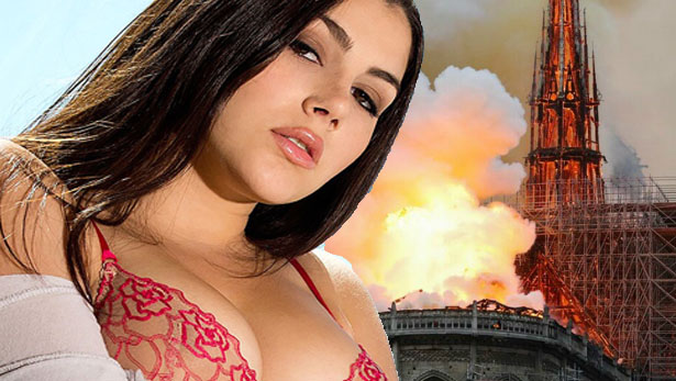 Valentina Nappi choc: «Notre-Dame a fuoco? Non riuscivo a non godere»