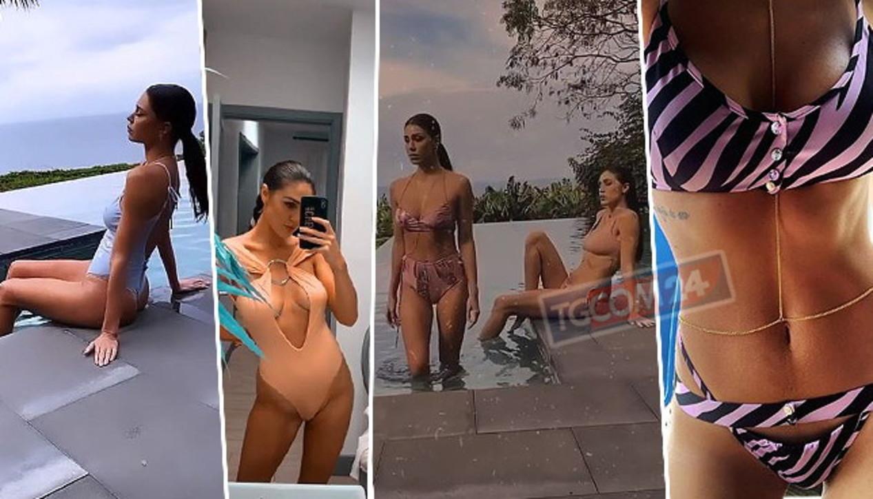 Belen in bikini insieme alla sorella Cecilia Rodriguez