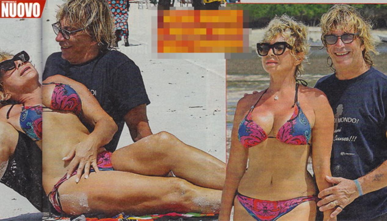 Carmen Russo in bikini esplosivo per i 7 anni di Maria