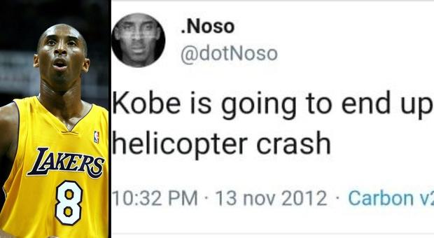 Kobe Bryant, il mistero della profezia sulla morte in un tweet del 2012