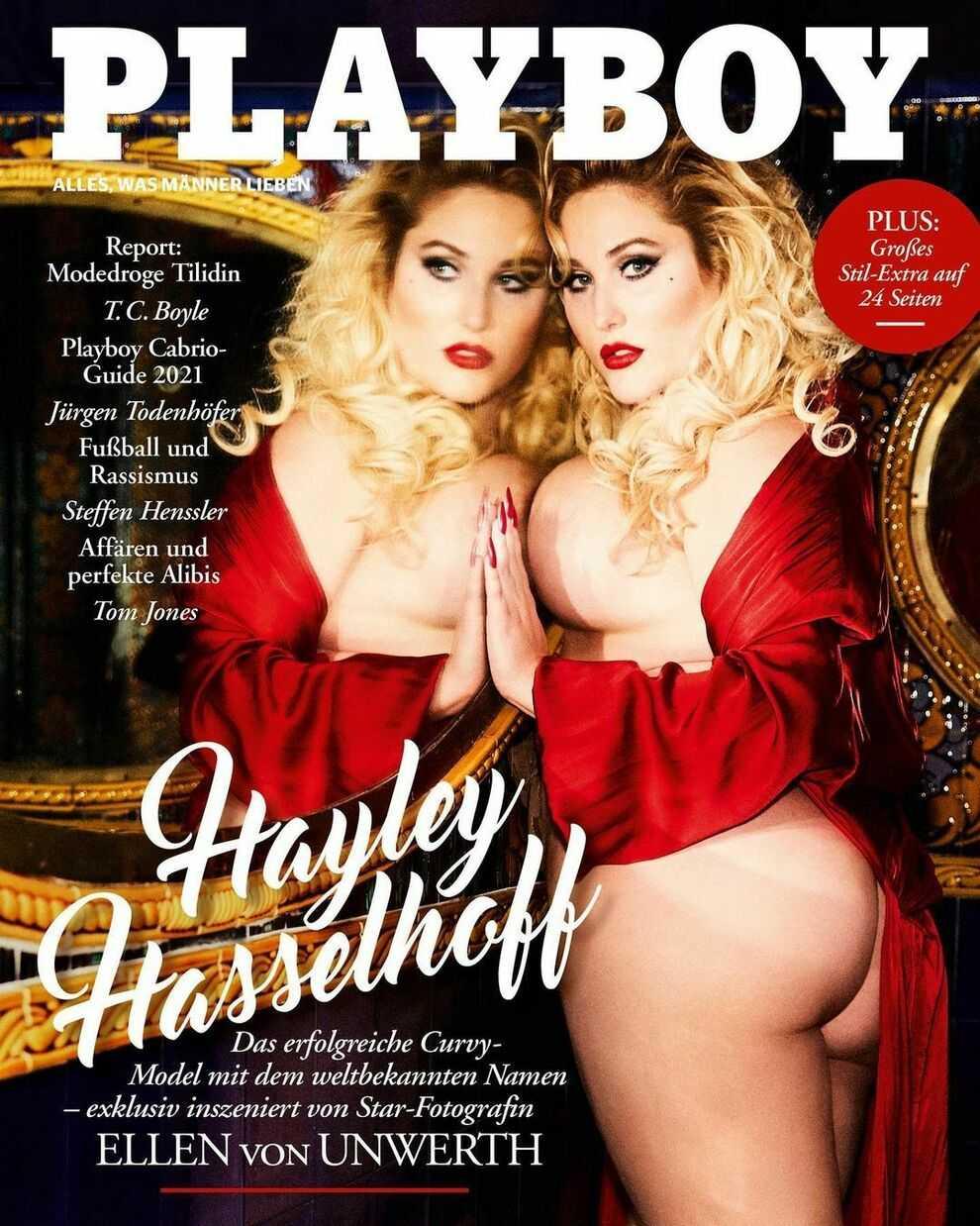 Hayley Hasselhoff è la prima modella curvy a posare per Playboy