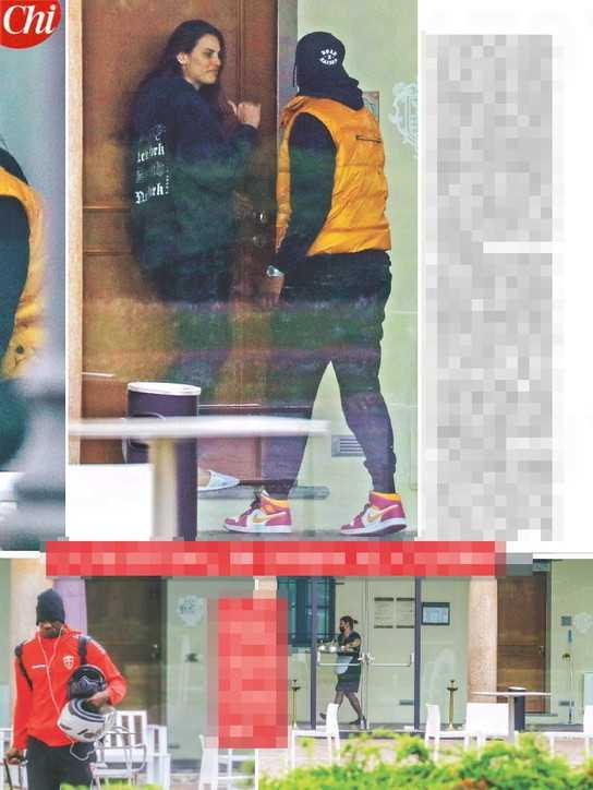 Mario Balotelli e Dayane Mello sono stati fotografi insieme in un residence