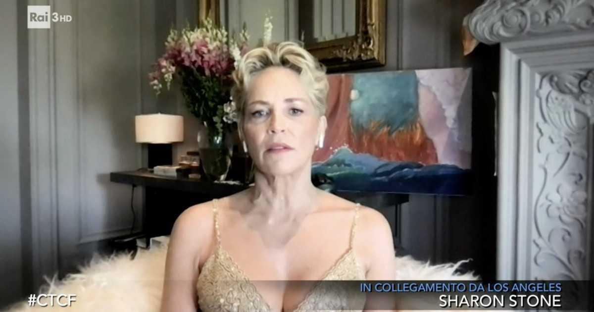 Sharon Stone ospite di Fazio racconta sono stata fortunata a rimanere in vita