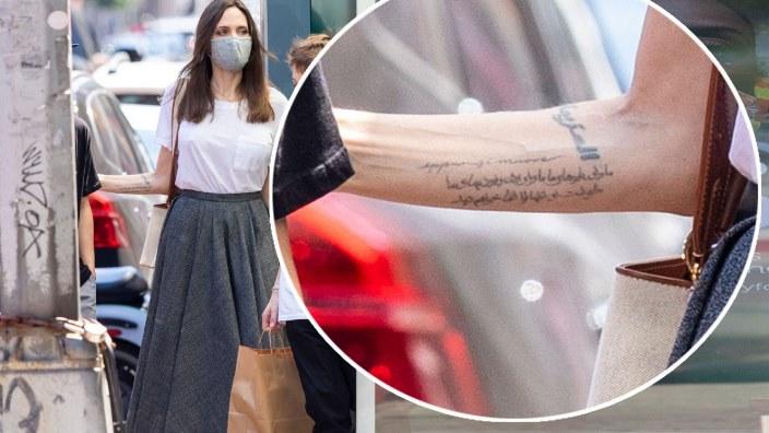 Angelina Jolie ha un nuovo tatuaggio «italiano»