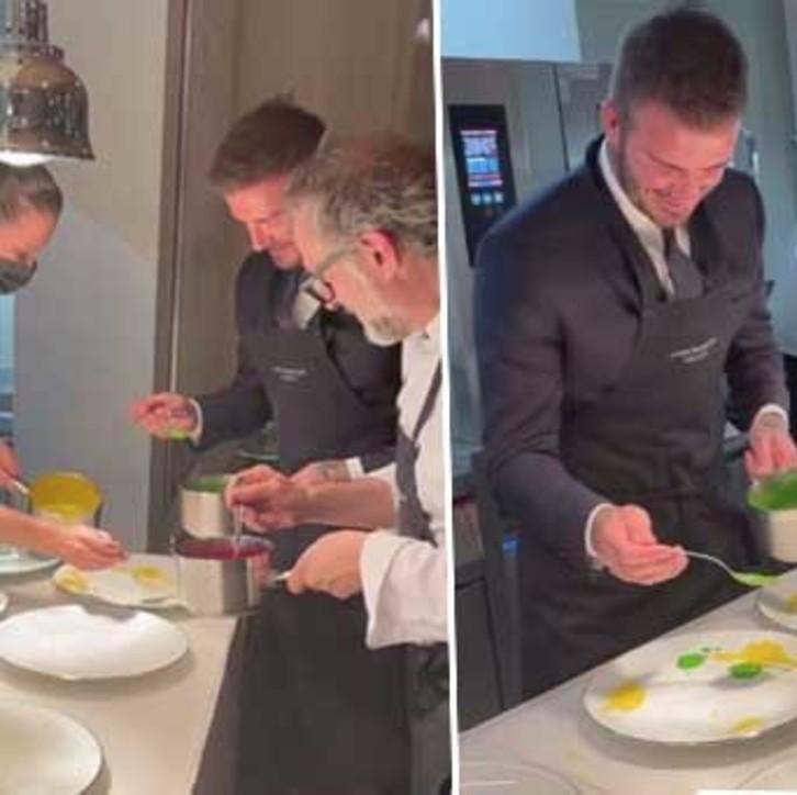 David Beckham cuoco per una sera con Massimo Bottura