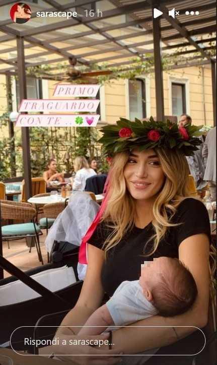 Sara Scaperrotta si è laureata con il piccolo baby-Zaniolo in braccio