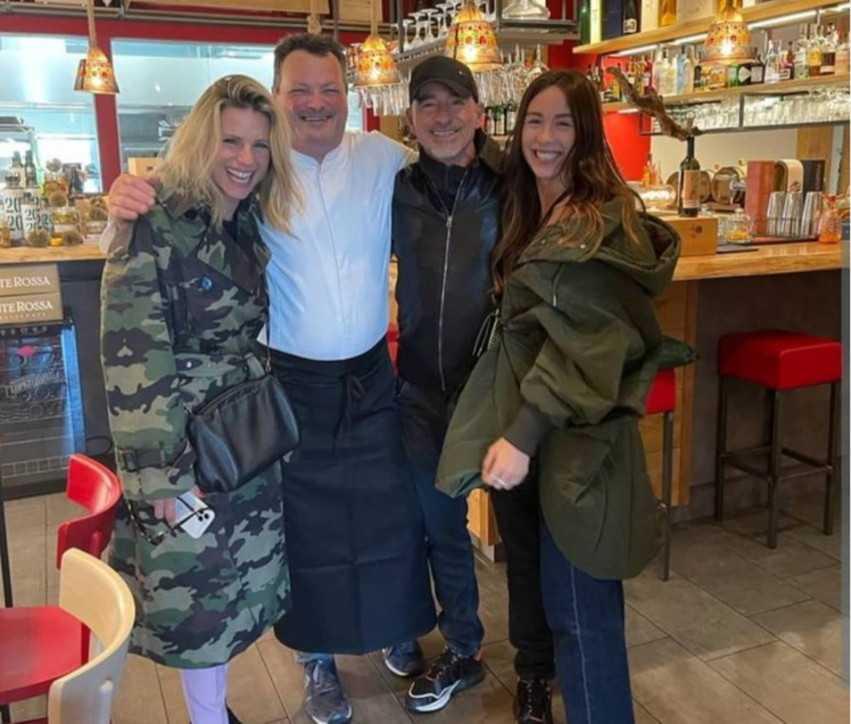 Michelle Hunziker ed Eros Ramazzotti reunion a Brescia per il pranzo con Aurora