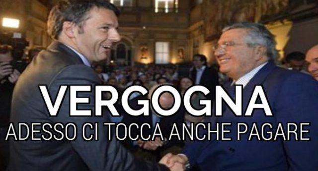 Il Capolavoro di De Benedetti: non solo ruba a Montepaschi, adesso si fa pagare dagli Italiani il buco delle aziende... un grazie di cuore agli amici in Parlamento...!