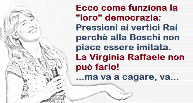 """Maria Elena Boschi censura Virginia Raffaele che, nientemeno, ha """"osato"""" imitarla! - Un vero, grande esempio di democrazia Renziana...!!!"""