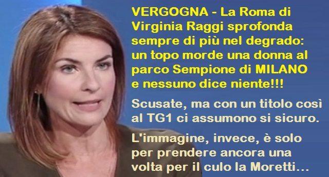 VERGOGNA - La Roma di Virginia Raggi sprofonda sempre di più nel degrado: un topo morde una donna al parco Sempione di MILANO e nessuno dice niente!!!