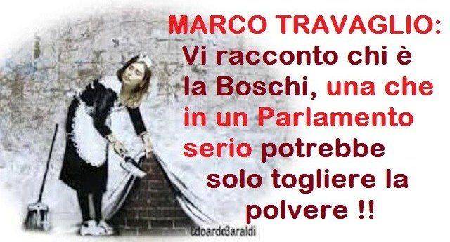 Un pezzo storico - MARCO TRAVAGLIO: Vi racconto chi è la Boschi, una che in un parlamento serio potrebbe solo togliere la polvere !!