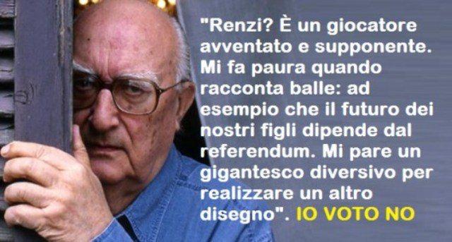 """Camilleri compie 92 anni - Vogliamo ricordare una sua presa di posizione: """"Sono diventato quasi cieco, desidero l'eutanasia, ma al Referendum ci sarò. E voterò NO"""""""