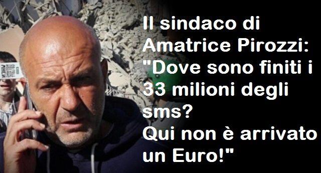 Quando lo Stato truffa i suoi stessi cittadini - Sms solidali, non un euro, un solo schifosissimo Euro, è arrivato ad Amatrice...E parliamo di 33 milioni di raccolta!
