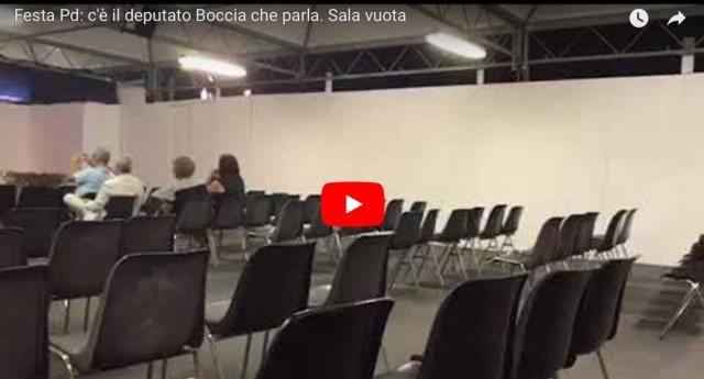 Ecco come Renzi ha ridotto il Pd - Nuovo flop alla Festa dell'Unità: ad ascoltare il deputato Boccia 13 persone ...ma non tutte hanno resistito fino alla fine!