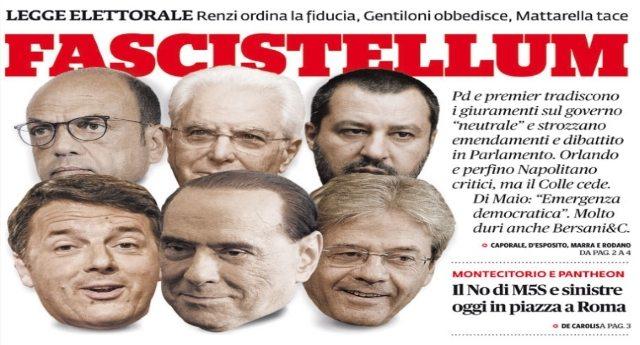 Rosatellum, il Pd blinda la legge elettorale dei nominati: il Governo pone la fiducia, grida in Aula. Ok dal Quirinale - Signore e Signori, ecco a Voi il FASCISMO!