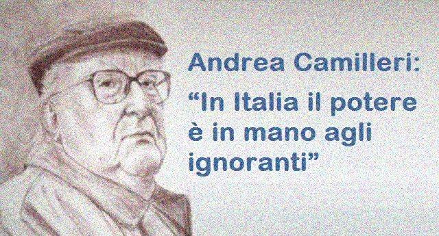 """Andrea Camilleri: """"In Italia il potere è in mano agli ignoranti"""""""