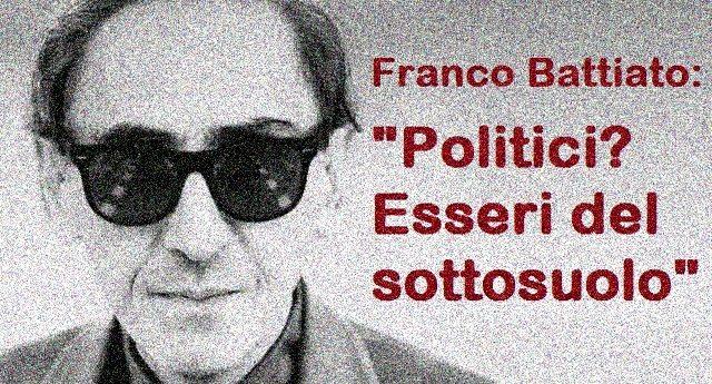 """Ricordiamo lo sfogo del maestro Battiato: """"Politici? Esseri del sottosuolo"""""""