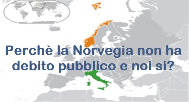 """Perché la Norvegia non ha """"debito pubblico""""? Ogni bambino che nasce in Italia ha già un debito di 40.000 Euro. Ogni bambino che nasce in Norvegia ha un patrimonio di 161.000 Euro. Ecco cosa andrebbe spiegato ai nostri politici...!"""