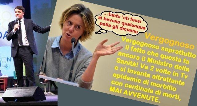 """Renzi apre la Leopolda: """"Ci attaccano con le fake news"""" ...Bravo Matteo, ora raccontaci del tuo Min. Lorenzin che per 2 volte in Tv, per fare """"pubblicità"""" ai suoi """"cari"""" vaccini, si è INVENTATA 2 INESISTENTI EPIDEMIE DI MORBILLO CON 270 E 200 MORTI...!"""